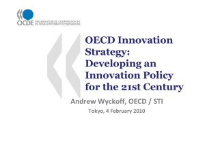 OECD Innovation Strategy: Developing an Innovation Policy