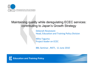 Maintaining quality while deregulating ECEC services: contributing to Japan's Growth Strategy