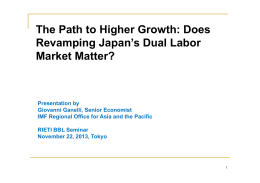 The Path to Higher Growth: Does Revamping Japan's Dual Labor Market Matter?