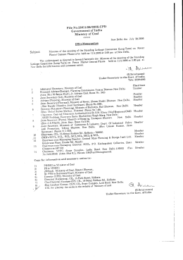 File No.23011/38//2006-CPD Government of India Ministry of Coal