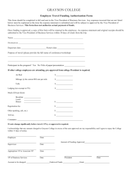 GRAYSON COLLEGE  Employee Travel Funding Authorization Form