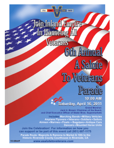 6th Annual A Salute To Veterans Parade