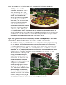 A brief summary of the institution's approach to sustainable landscape...