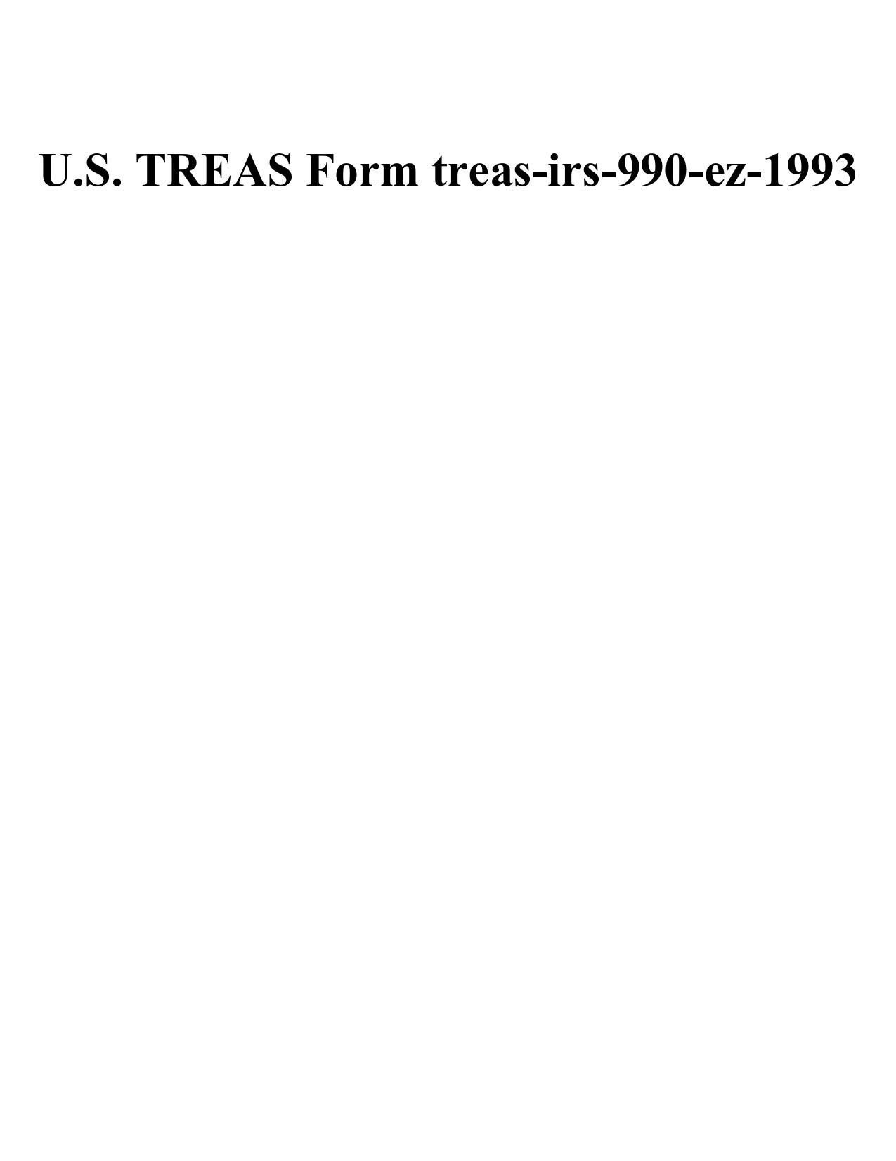 Us Treas Form Treas Irs 990 Ez 1993