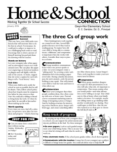 Home&School The three Cs of group work CONNECTION Working Together for School Success