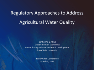 Regulatory Approaches to Address Agricultural Water Quality