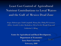 Least Cost Control of  Agricultural Nutrient Contributions to Local Waters