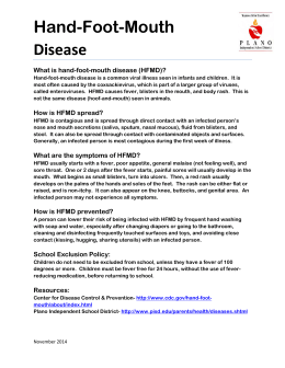 Hand, foot, and mouth disease essay