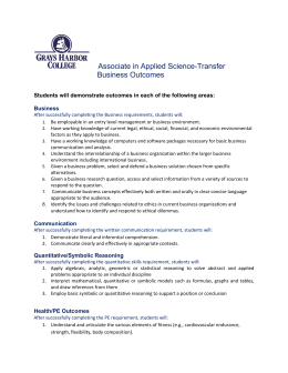 Associate in Applied Science-Transfer  Business Outcomes