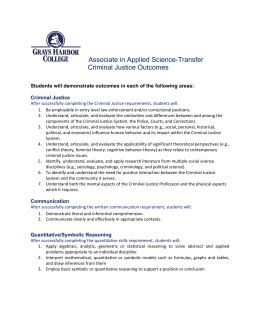 Associate in Applied Science-Transfer  Criminal Justice Outcomes