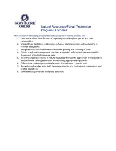 Natural Resources/Forest Technician- Program Outcomes