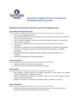 Associate in Applied Science Occupational Entrepreneurship-Outcomes