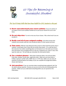10 Tips for Becoming a Successful Student  1.