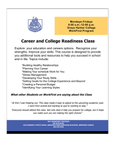 Career and College Readiness Class