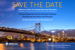 SAVE THE DATE | Interprofessional Care for the 21st Century: