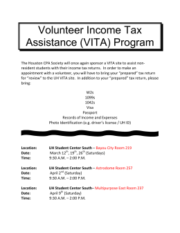 Volunteer Income Tax Assistance (VITA) Program