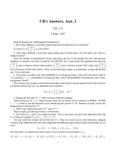 CB's Answers, Asst. 2 CSC 172 8 Sept. 1997