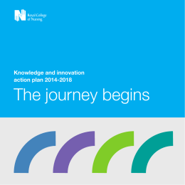 The journey begins Knowledge and innovation action plan 2014-2018