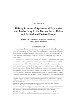 Shifting Patterns of Agricultural Production