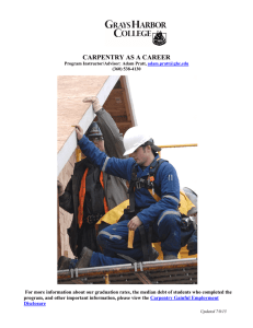 CARPENTRY AS A CAREER Carpentry Gainful Employment
