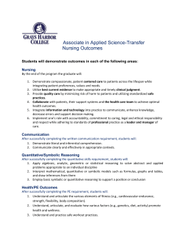 Associate in Applied Science-Transfer  Nursing Outcomes