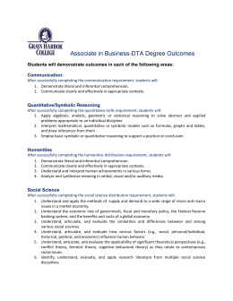 Associate in Business-DTA Degree Outcomes  Communication: