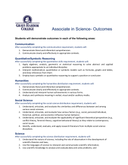 Associate in Science- Outcomes Communication: