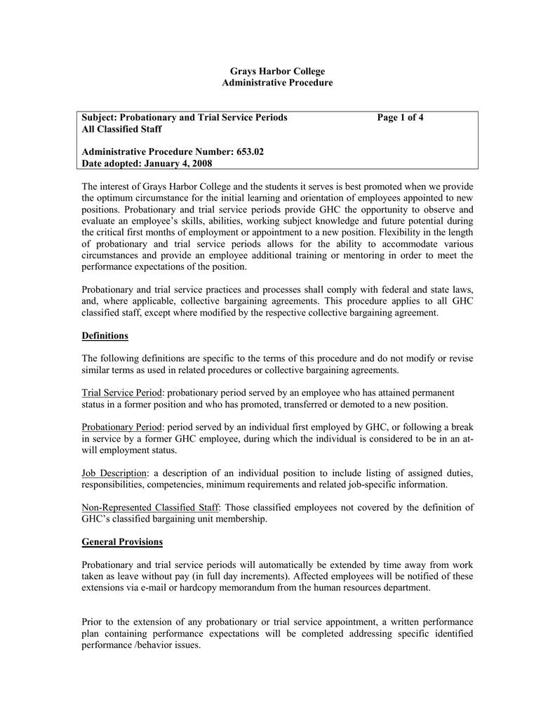Grays Harbor College Administrative Procedure