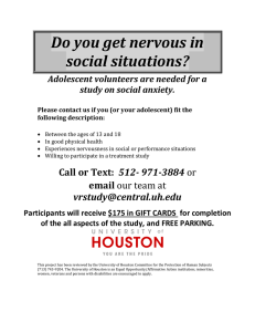 Do you get nervous in social situations? study on social anxiety.