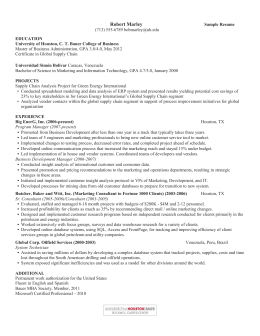 alternate rsum sections ct bauer college of business robert marley - Bauer College Of Business Resume Template