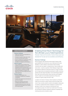Enabling Smart Room Technology for the Ultimate Luxury Hotel Experience
