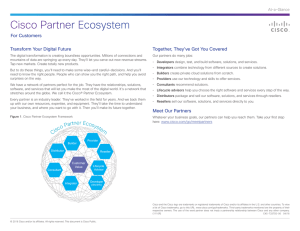 Cisco Partner Ecosystem For Customers Transform Your Digital Future