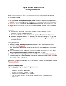 myUH Student Administration Training Information