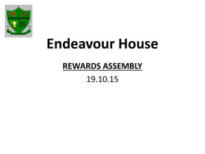 Endeavour House REWARDS ASSEMBLY 19.10.15