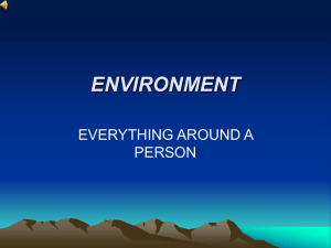 ENVIRONMENT EVERYTHING AROUND A PERSON