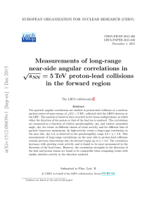 Measurements of long-range near-side angular correlations in √ s