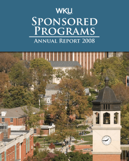 Sponsored Programs Annual Report 2008