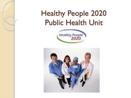 healthy 2020 essay