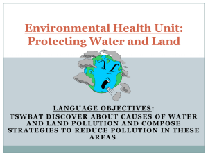 Environmental Health Unit: Protecting Water and Land