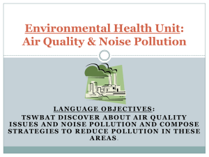 Environmental Health Unit: Air Quality & Noise Pollution