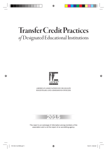 Transfer Credit Practices 2015 of