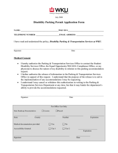 Disability Parking Permit Application Form