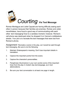 Courting Via Text Message