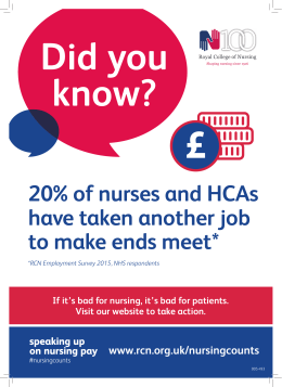 £ Did you know? 20% of nurses and HCAs