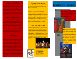 How Fine Arts Contribute Equalizing Effects Financial Benefits