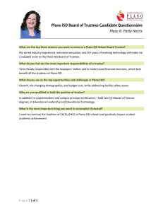 Place 6: Patty Harris Plano ISD Board of Trustees Candidate Questionnaire