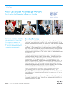Next-Generation Knowledge Workers Executive Summary