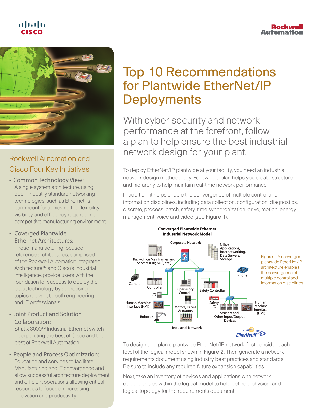 Top 10 Recommendations for Plantwide EtherNet/IP Deployments