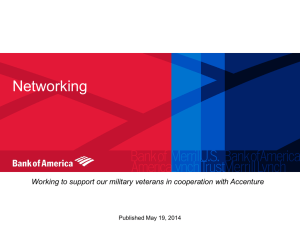Networking Working to support our military veterans in cooperation with Accenture