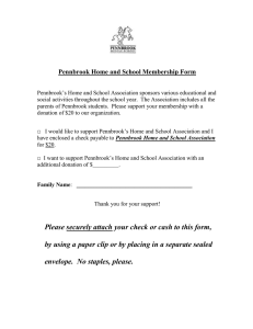 Pennbrook Home and School Membership Form